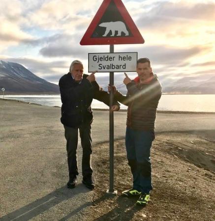 Torsten och Jonas Åhlander på Svalbard