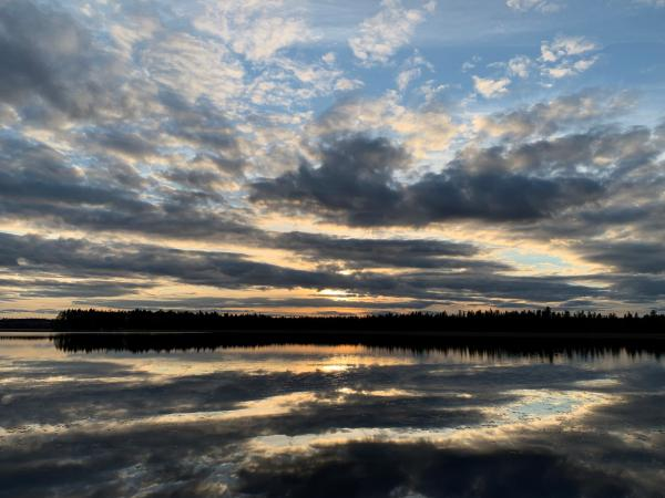 Solnedgång över Kvarnträsket